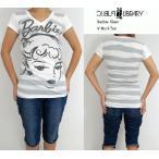 "PUBLIC LIBRARY/パブリック ライブラリー/tシャツ/バービー/V-NECK T-shirt ""Barbie  Glam""/レディース バービー Vネック ティーシャツ"