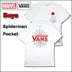 VANS バンズ キッズ マーベル Tシャツ 子供 BOYS SPIDERMAN POCKET TEE 半袖
