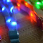 Yahoo!REBIAS Yahoo!店LED ネックストラップ 光る 発光 イベント ライブ コンサート パスケース ペンライト クラブ レッド NS-LED-STRAP-RD