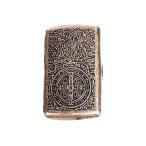シガーレットケース 彫金 タバコケース シガレット 収納 アンティーク調 バロック ゲバラ クロス アラベスク cigar case