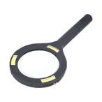 メカニック LED ルーペ 3倍  拡大鏡 ハンド 手持ち むしめがね ライト付き 虫眼鏡 老眼 読書 ライト