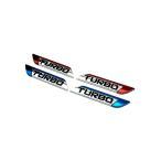 汎用 ステッカー TURBO ターボ 3D 立体 エンブレム 走り屋 ドリフト クール カスタム ステッカー カーステッカー