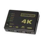HDMI セレクター 5入力 1出力 リモコン付 高画質 HDMI 切替スイッチ 4K ULTRA HD 1080P