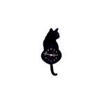 にゃんこ 掛け時計 猫 CAT ネコ クロック しっぽ 黒猫 三毛猫 CLOCK