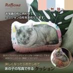 Yahoo!癒しのペット骨壷ReBone「 あの子の写真で作る クッション (無地) 」 オーダーメイド シルク小袋付き 写真 遺毛 思い出 手元供養 ペット 猫 犬 うさぎ