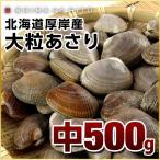 (あさり アサリ) 厚岸産 殻付あさり中サイズ 500g ギフト プレゼント用 北海道  内祝 お歳暮