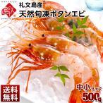 ボタンエビ 生冷凍タイプ 中小サイズ 500g ギフト プレゼント用 北海道  内祝 お歳暮
