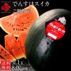 でんすけすいか スイカ 北海道 当麻産 送料無料 1玉で8kg前後 豪華にかぶりつける大きさが特徴 でんすけスイカ 西瓜 秀品 ご贈答用 お土産