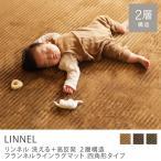 洗えるフランネルラインラグマット LINNEL(190×240cm)