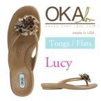 ショッピングオカビー OKA b. オカビー Lucy ルーシー  コンフォートサンダル NEW COLLECTION NEWカラー入荷!!ナチュラル素材で作られたお花がアクセント