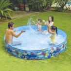 空気入れ不要 JILONG ジーロン ガーデンプール240cm ビニールプール 浮き輪 プール 家庭用 水遊び