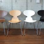 アルネ・ヤコブセン ダイニングチェア アントチェア 北欧家具 木製 座面4色 プライウッド 椅子 チェア 代引不可 代引不可