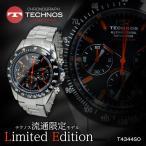 テクノス TECHNOS クオーツ メンズ クロノ 腕時計 T4344SO