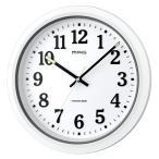 ノア精密 MAG マグ 電波防塵防水掛時計 ナヤ W-734WH-Z 電波時計 アナログ 掛け時計 防水 防塵 32cm シンプル 時計 時間