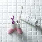 アネスティ HO1871 karari 珪藻土歯ブラシスタンド 2本用 ブーツ ピンク