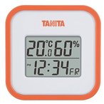 タニタ TANITA デジタル温湿度計 置き掛け両用タイプタイプ/マグネット付 オレンジ TT-558-OR
