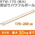平安伸銅工業 強力太タイプの突っ張り棒 バネ入り ホワイト 耐荷重30~8kg 取付寸法170~280cm RTW-170