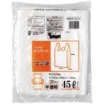 (業務用5セット) 日本技研 取っ手付きごみ袋 半透明 45L 20枚 20組