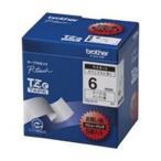 (業務用5セット) brother ブラザー工業 文字テープ/ラベルプリンター用テープ 〔幅:6mm〕 5個入り TZe-211V 白に黒文字 〔×5セット〕