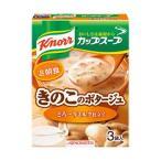 (まとめ)味の素 クノール カップスープ ミルク仕立てのきのこのポタージュ 1箱(13.6g×3袋)〔×10セット〕