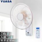 ユアサプライムス 壁掛け扇風機 YTW-D361CFR K ブラック 扇風機 壁 壁掛け リモコン おしゃれ サーキュレーター