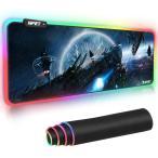 マウスパッド 超大型 NPET ゲーミング ゲーム用 12モード 9色発光色 RGB 滑り止め USBケーブル 防撥水加工 ゲーマー