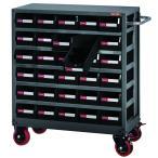 パーツを簡単に出し入れできるスチール製収納棚