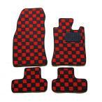 カーマット MINI ミニクーパー R50/R53/R56 RA16/RE16/MF16 専用 新品 フロアマット カーマット チェック赤黒/チェック灰黒/チェック青黒