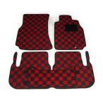 カーマット 日産 ステージア M35系 専用 新品 フロアマット カーマット チェック赤黒/チェック灰黒 ブラック/グレー/ベージュ 内装 パーツ