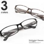 伊達メガネ メンズ レディース おしゃれ ウェリントン めがね 眼鏡 黒ぶち 知的 カジュアル フレーム レンズ ブラック 知的 人気 定番
