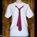ショッピングTシャツ Tシャツ/メンズ/レディース/6.2oz半袖Tシャツ : ネクタイ : ホワイト