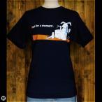 Tシャツ メンズ レディース 6.2oz半袖Tシャツ 月うさぎ ネイビー