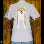 Tシャツ/メンズ/レディース/6.2oz半袖Tシャツ :  Shiba Inu : シルバーグレー