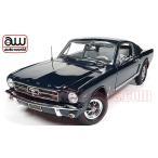 アメ車ミニカー/限定1002個 オートワールド 1965 フォード マスタング GT 2+2 ファストバック ダークブルー 1:18