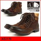 AMERICANINO EDWIN/アメリカニーノ エドウィン アンティーク加工ブーツ。内側ジッパー装着で着脱しやすく履き口にはクッション素材を使用。