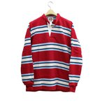 SALE!! BARBARIAN PFF-31 12oz HENLY LONG SLEEVE RUGBY JERSEY �إ��ͥå� �饬������� ��� ŵ �إӡ��������� ���ʥ��� D.RED/IVORY/SKY/NAVY XS-XL