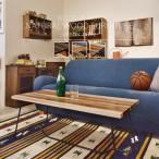テーブル センターテーブル リビングテーブル 天然木 古材風 アイアン 座卓 カフェ モダン 北欧 おしゃれ シンプル 長方形
