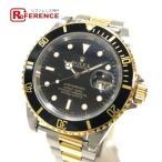 ROLEX ロレックス 16613 オイスターパーペチュアル デイト 腕時計 イエローゴールド×シルバー メンズ 【中古】
