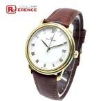 Blancpain ブランパン 1158 ヴィルレ ウルトラスリム デイト 腕時計 イエローゴールド×ブラウン メンズ 【中古】