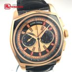 ROGER DUBUIS ロジェデュブイ モネガスク ビッグナンバー クロノグラフ メンズ腕時計 K18ローズゴールド ブラックアリゲーターベルト 自動巻き 未使用 KK 中古