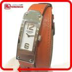 ショッピングHERMES HERMES エルメス KT1.210 ケリー2 ドゥブルトゥール 腕時計 オレンジ レディース 【中古】