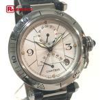 Cartier カルティエ パシャGMT パワーリザーブ メンズ腕時計 SS 自動巻き W3103755 KK 中古