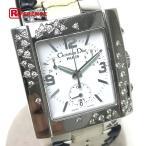Christian Dior クリスチャンディオール リヴァ スパークリング クロノグラフ レディース腕時計 SS 革ベルト D81-101 中古