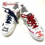 CHANEL シャネル G34878 シューズ 靴 CC グラフィティ スニーカー ホワイト×マルチカラー メンズ 【中古】