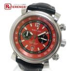 WALTHAM ウォルサム SW45 フィダルゴ 裏スケ デイト クロノグラフ  腕時計 シルバー×ブラック メンズ 【中古】