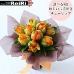 選べる5色 珍しい八重咲きチューリップだけで束ねたそのまま飾れるスタンドブーケ 花束 誕生日プレゼント 退職祝い 卒業祝い 愛妻の日 送別会