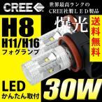 ショッピングLED LEDフォグランプ H8/H11/H16 LED CREE 30W  白/ホワイト LED フォグランプ 送料無料