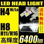 ショッピングLED LED ヘッドライト フォグランプ 6400lm 35W H4 H8 H11 H16 Hi/Lo 省エネ化 HID級の光 送料無料