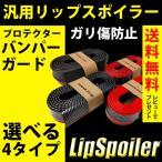 リップスポイラー 汎用 バンパー ガード プロテクター ゴム ドレスアップ カーボン ブラック レッド ライン 傷 防止 送料無料