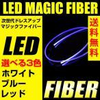 LEDマジックファイバーライト 100cm/1m 選べる3色 白/赤/青 ホワイト/レッド/ブルー ウェッジ球 テープライト T5 3mm 送料無料